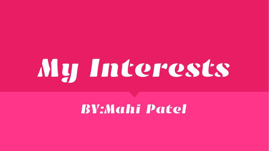 Interests Topic (1)