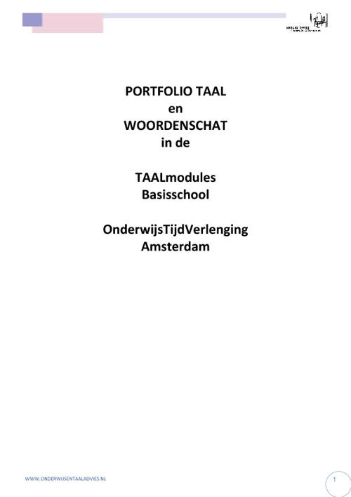 Woordenschat en taalportfolio OTV-modules PO