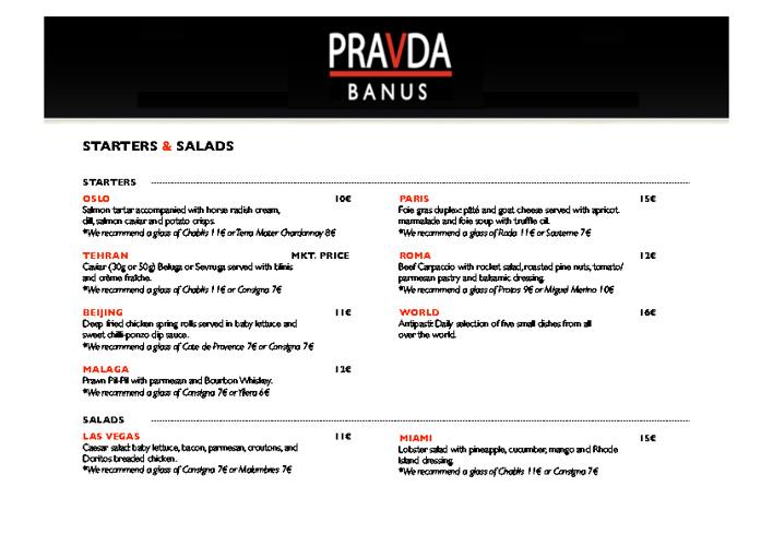 Restaurante Pravda Puerto Banus