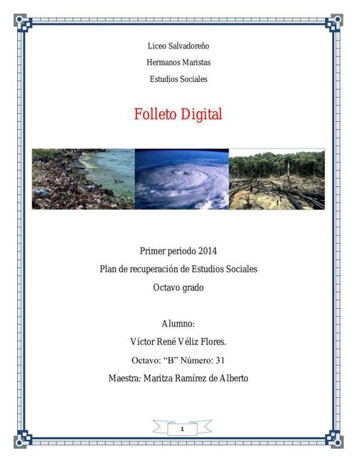"""actividad remedial sociales 2014. victor veliz 8º """"B"""" #31"""