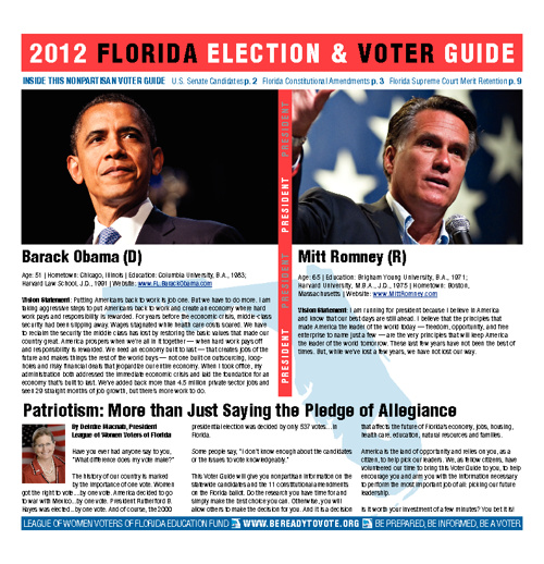 LWV 2012 Voter Guide