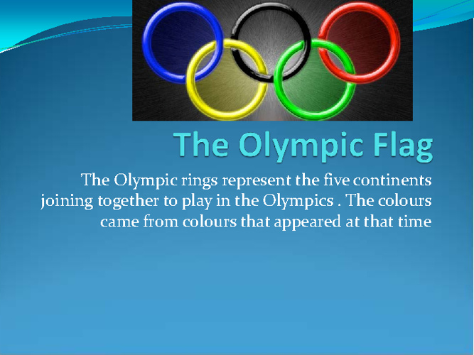 Olympic traditions