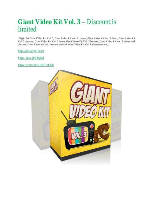 Giant Video Kit Vol. 3 Review - Giant Video Kit Vol. 3 DEMO & BO