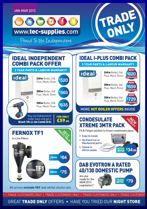 Tec Supplies Trade Offers April - March 2013