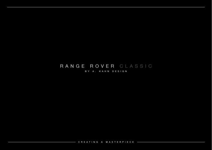 Kahn Design_Classic Range Rover Vogue & Autobiography