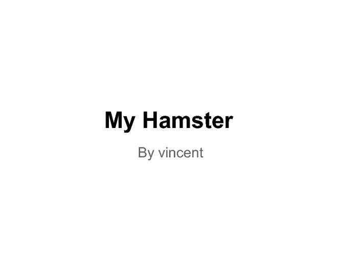 vincent presentation hamster
