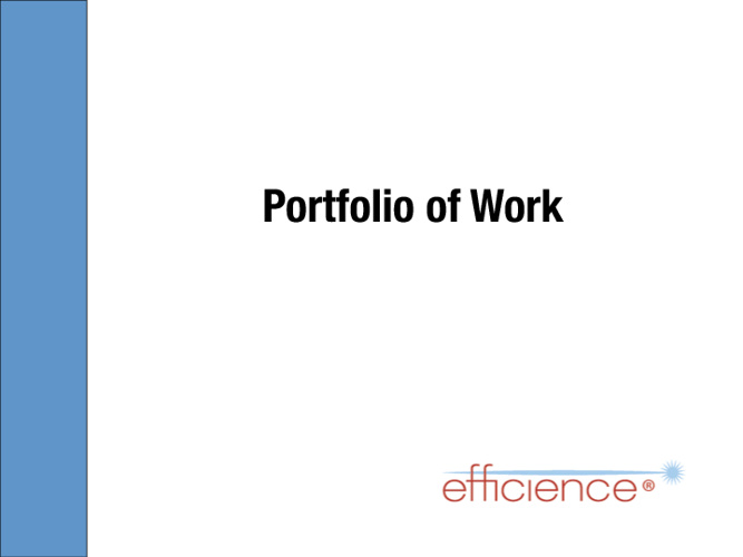 Efficience Portfolio