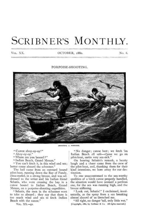 Porpoise Hunting at Grand Manan Scribners-1880