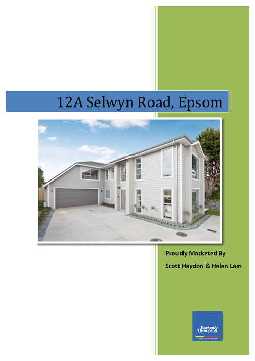 12A Selwyn Road, Epsom.