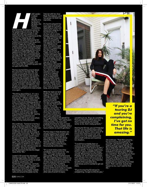 Heidi Lawden DJ Mag USA December 2017