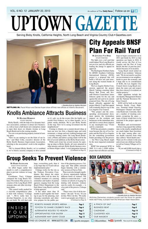 Uptown Gazette     March 22, 2013