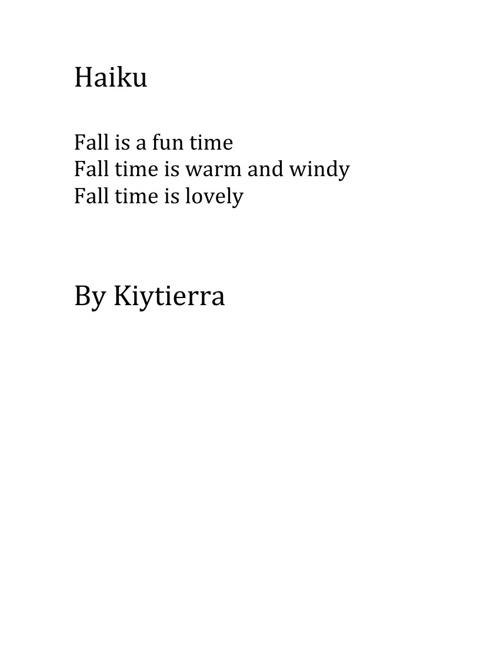 Kiytierra's Poetry