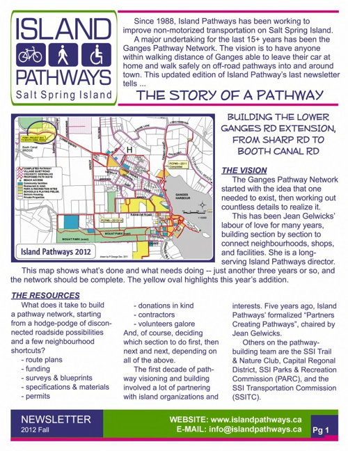 Island Pathways 2012 Fall Newsletter