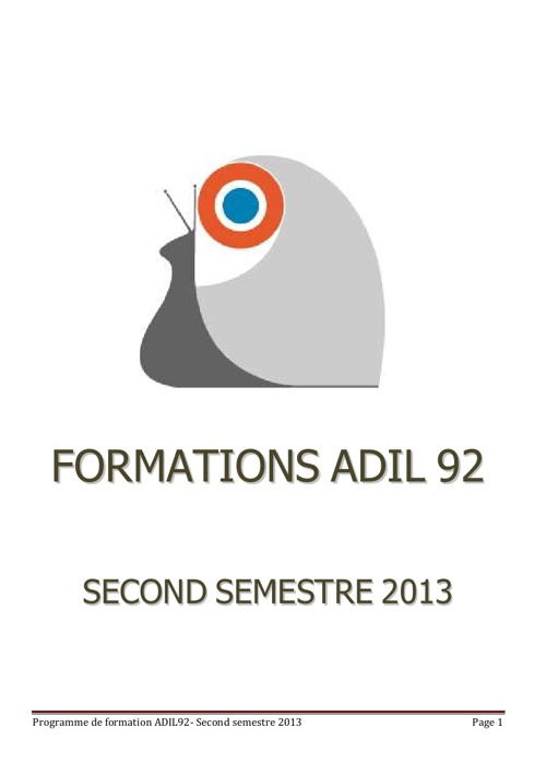 catalogue formation second semestre 2013
