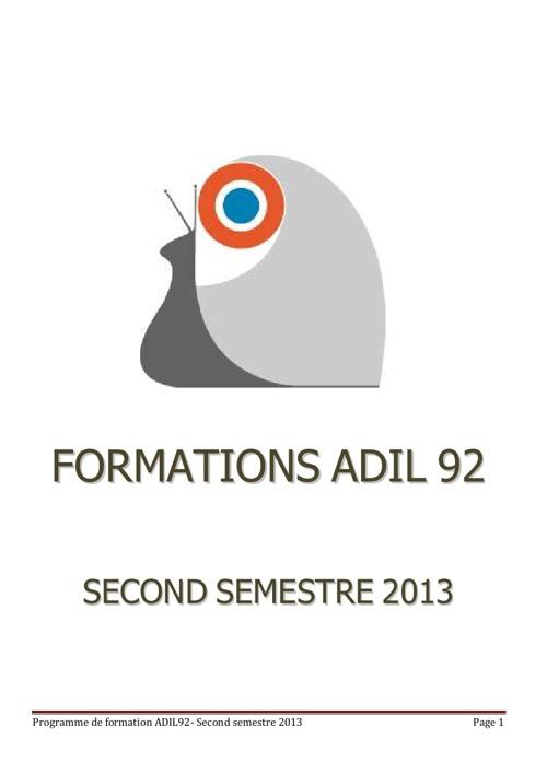 catalogue formation second semestre 2013