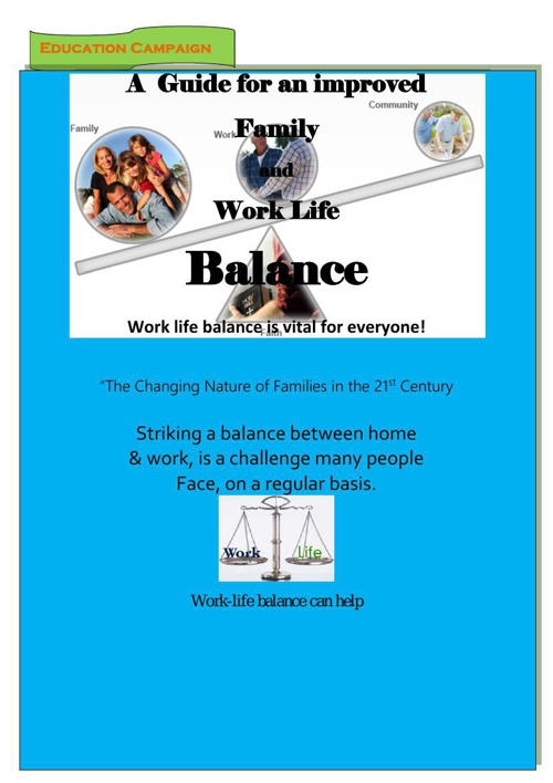 A guide to a healthy work life balance
