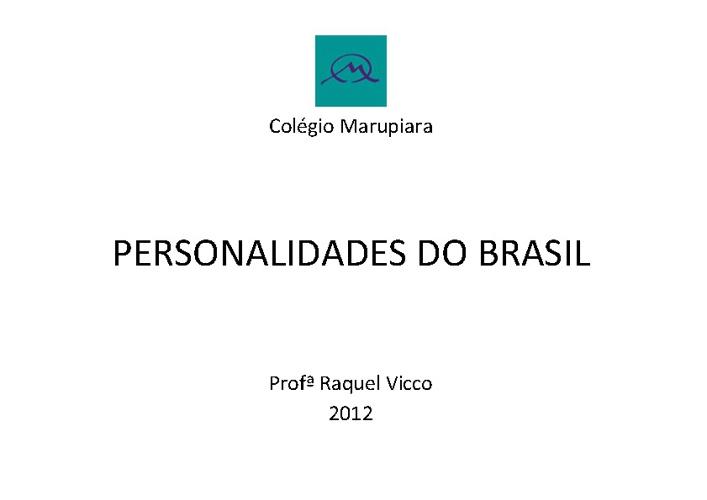 Personalidades do Brasil