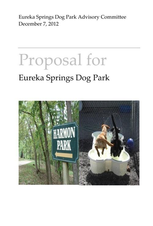 Eureka Springs Dog Park Proposal