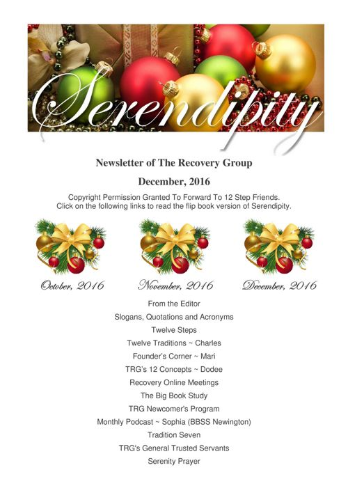 12 Serendipity  ~ December 2016