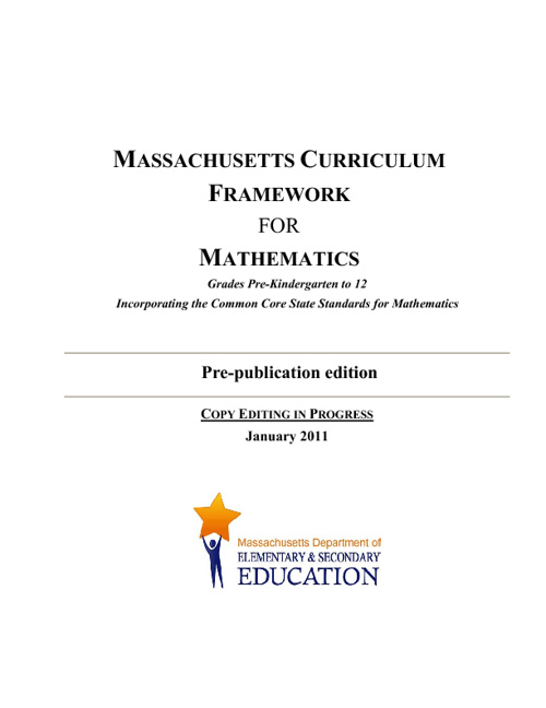 Massachusetts Math Frameworks (Common Core)