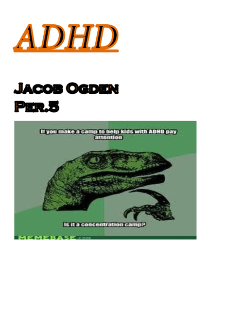 ADHD Mental Disorder Research j.o