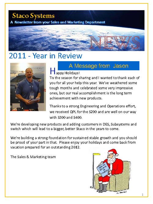 2011 Year in Review Newsletter