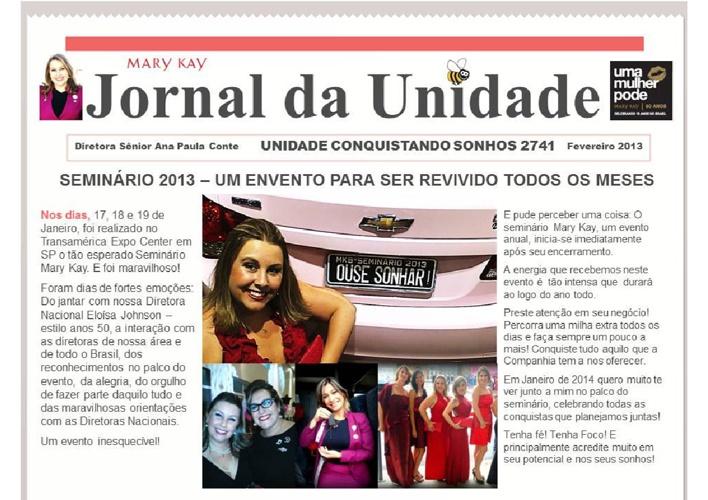 Jornal da Unidade Conquistando Sonhos - Fevereiro 2013