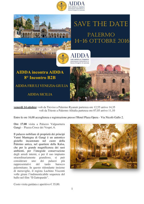 8° B2B Aidda Sicilia e Friuli VG  14-16 ottobre 2016 (2)