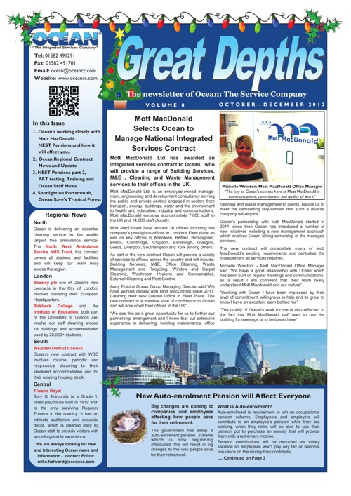 Ocean Great Depths Newsletter - October - December 2012