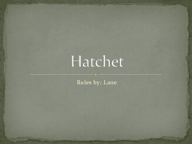 Hatchet Lane