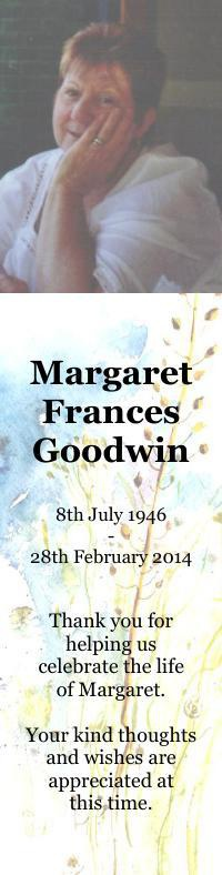 Bookmark for Margaret Goodwin