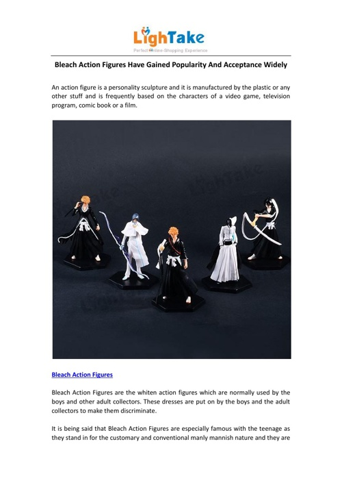 Bleach Action Figures Have Gained Popularity And Acceptance Wide