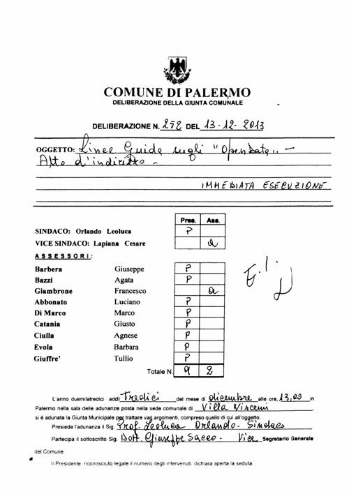 Linee Guida Open Data del Comune di Palermo