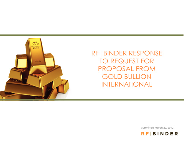 RF Binder Response to Request for Proposal from GBI