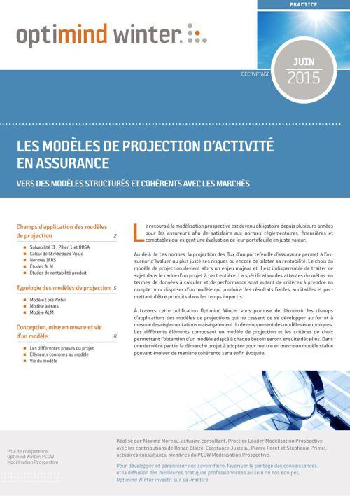 Optimind Winter - Les modèles de projection d'activité en assura