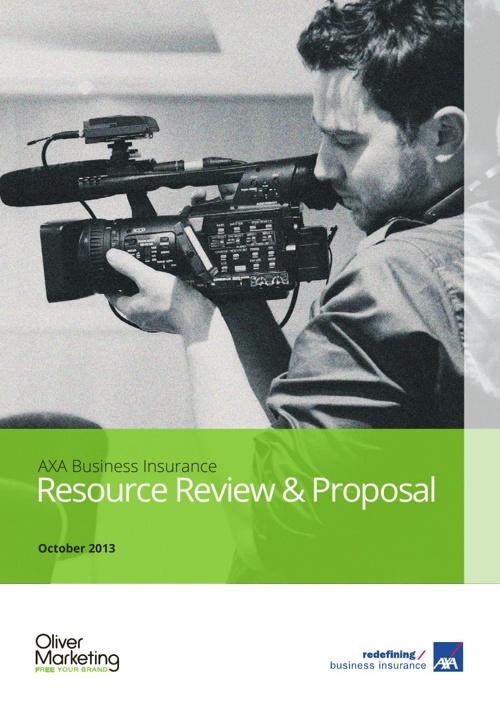 AXA Business Insurance Resouce Proposal - October 2013