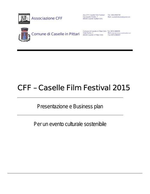CFF 2015 PRESENTAZIONE E BUSINESS PLAN