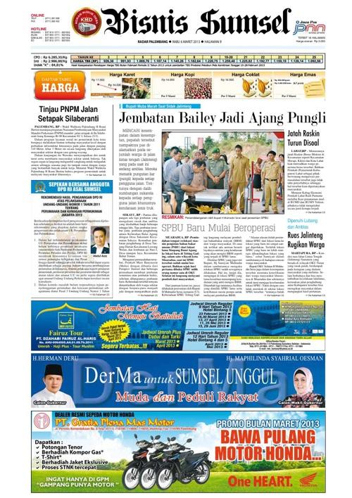 Radar Palembang Edisi 06-03-2013 Koran 2