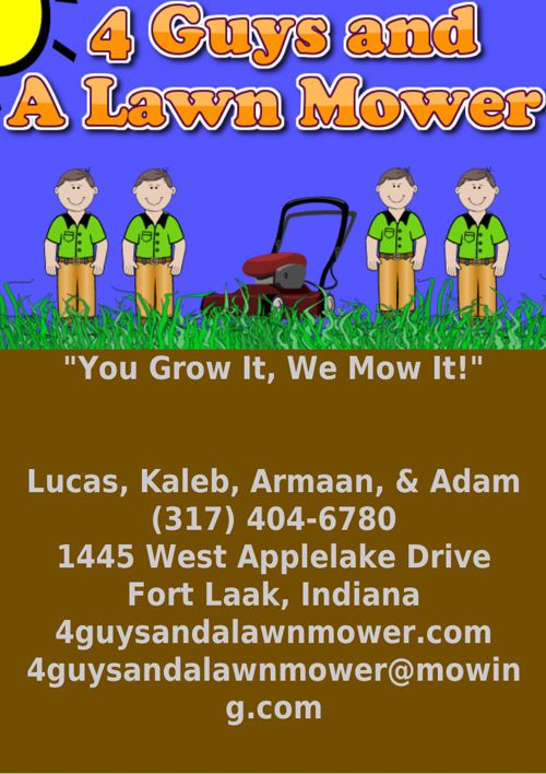 4 Guys and A Lawn Mower