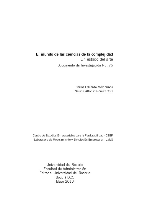 El mundo de las ciencias de la complejidad
