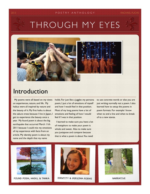 Through My Eyes- poetry anthology