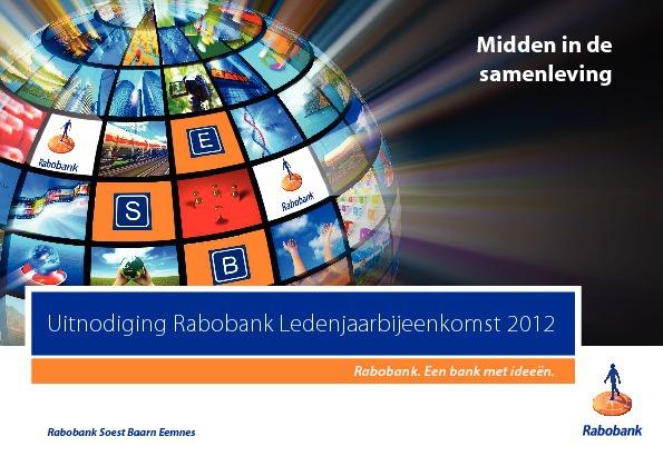 Uitnodiging Rabobank Ledenjaarbijeenkomst