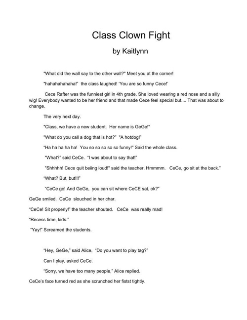 realistic fiction story kaitlynn