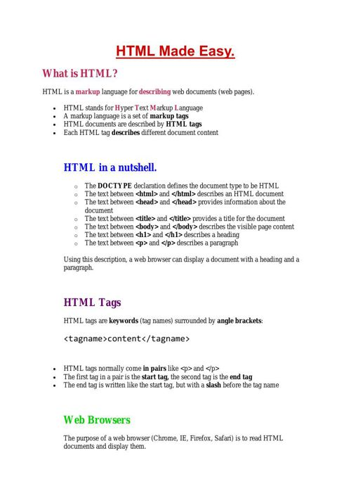 HTML Made Easy 2