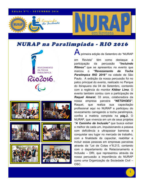 Nurap em Revista_Edição 1_Setembro 2016