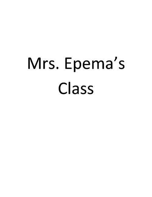 Mrs. Epema's book