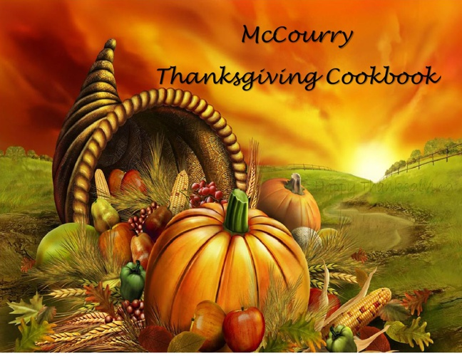 McCourry Thanksgiving Cookbook