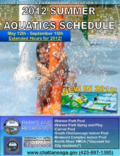 2012 Summer Aquatics Schedule, Updated