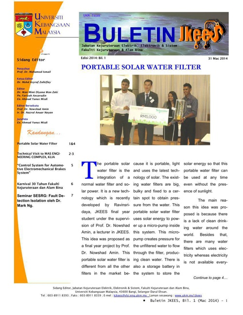 Buletin JKEES Edisi Mac2014