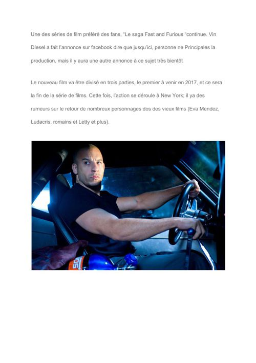 """[FR] It's official- Vin Diesel confirms """"Fast and Furious 8"""" Tri"""